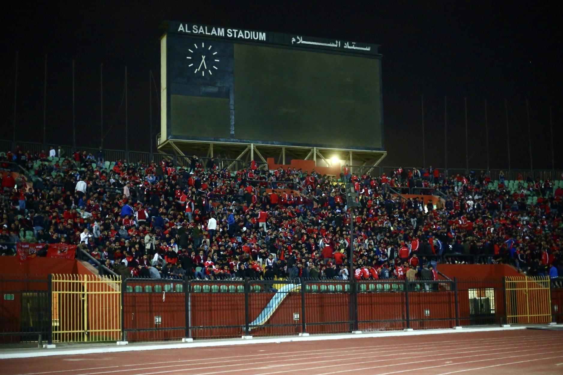 جماهير الأهلي تتوافد على استاد السلام صور المصري بلس الرياضي